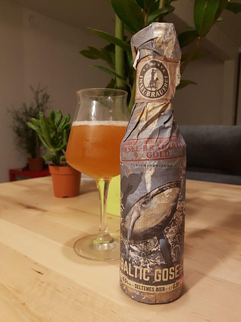 Bouteille de bière Insel Baltic Gose et son verre